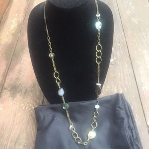 Stunning iridescent long necklace from Ann Taylor